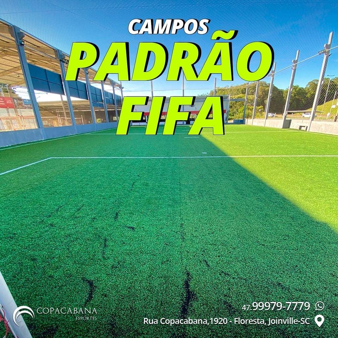 Quadras de Futebol Society Padrão FIFA